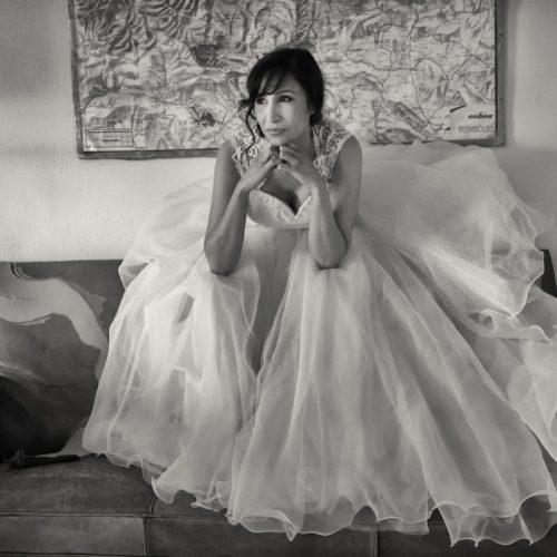 Ainhoa Guvens vestida de novia por Caché Moda Donosti